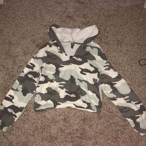 I'm selling a target camo crop sweatshirt